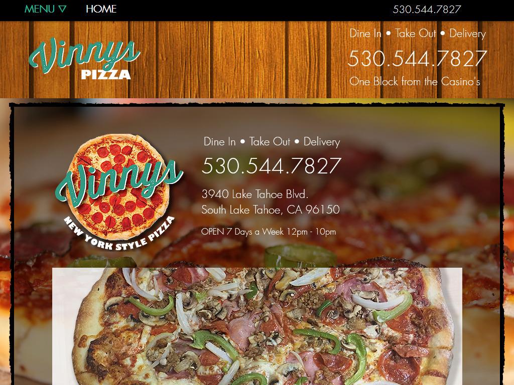 Vinnys Pizza South Lake Tahoe Ca 3940 Lake Tahoe Blvd Hours