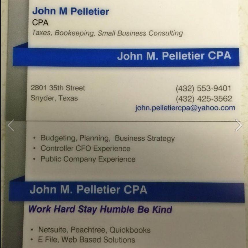 John M Pelletier, CPA