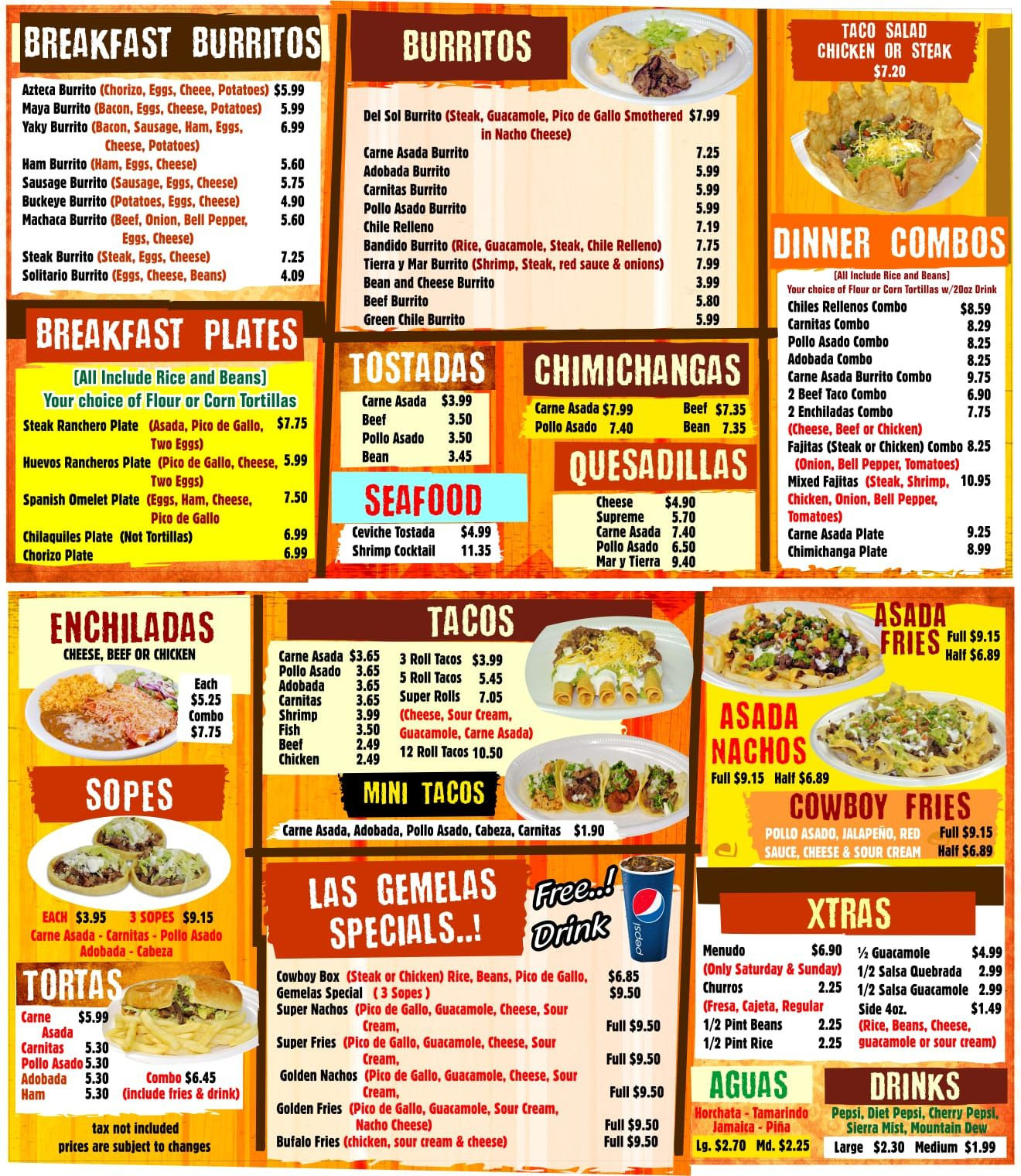 Las Gemelas Mexican Food