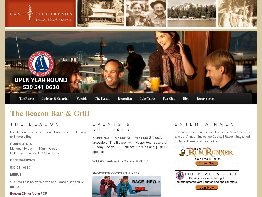Beacon Bar & Grill at Camp Richardson
